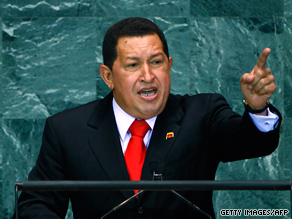 Venezuelan President Hugo Chavez spoke highly of President Obama at the United Nations on Thursday.