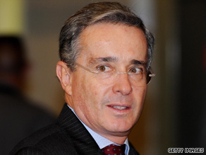 Colombian President Alvaro Uribe wants answers after a top ELN rebel was freed from prison.