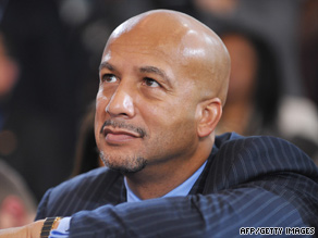 Mayor Ray Nagin watches President Obama speak in New Orleans, Louisiana, on Thursday.