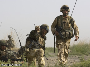A British unit on patrol in Helmand province's Garmsir district, where another soldier has died.