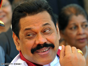Sri Lanka's President Mahinda Rajapaksa has called on the Tamil Tigers to stop fighting.