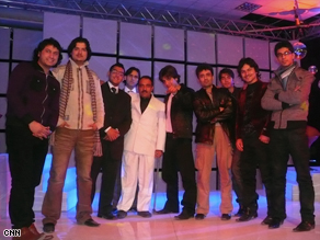 Behind the scenes with male contestants of the Afghan Star show.