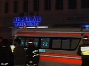 Emergency services at the scene of a series of explosions in Lahore.