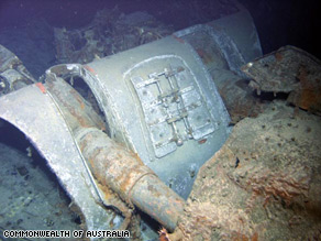 The gun turret of Sydney II was discovered with the rest of the vessel in March 2008.