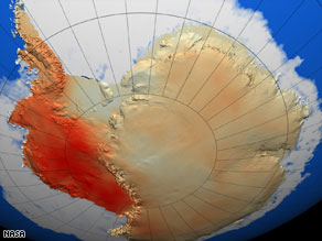 Temperatures across Antarctica have traditionally varied between east and west, scientists say.