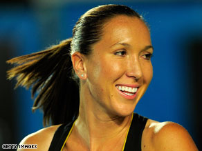 Grin and bear it: Jelena Jankovic hopes 2009 will be the year she wins a Grand Slam tournament.
