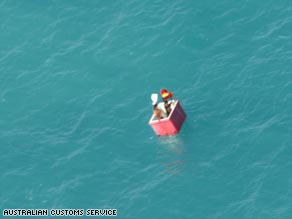 The Australian Customs Service found the two men in the Torres Strait on January 17.