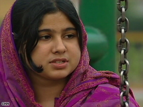Hina Khan, 14, fled to Pakistan's capital, Islamabad, to escape the Taliban.