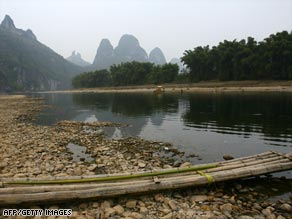 Water levels in some Chinese rivers are well below their average with 50 to 80 percent less rain than last year.