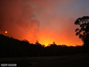 Deadly bushfires sweep through Victoria, Austrialia.