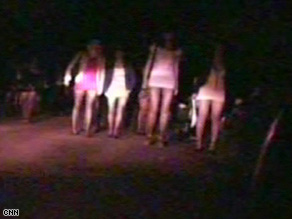 Aid agencies say young women are being forced into prostitution around the world -  including Russia's capital.