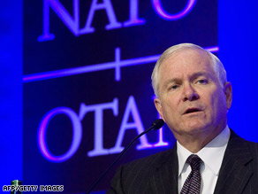 U.S. Defense Secretary Robert Gates answers questions at a news conference in Krakow, Poland, on Friday.
