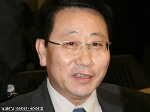 North Korean diplomat Kim Myong-gil gathered with other officials to discuss North Korea's energy needs