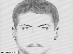 A Pakistan police sketch of one of the suspects.