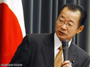 Japan's Chief Cabinet Secretary Takeo Kawamura says it has the right to shoot down the satellite.