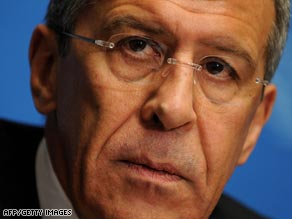 Russian Foreign Minister Sergey Lavrov read the statement promising help from Dmitry Medvedev.