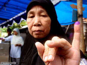 Analysts say that barring a major crisis, Yudhoyono will most likely win a second term.
