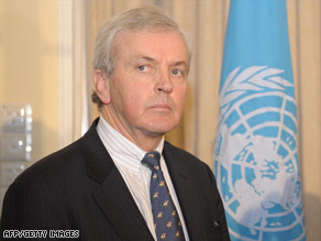 "U.N. humanitarian chief John Holmes called the brief halt in fighting on April 12 ""inadequate."""