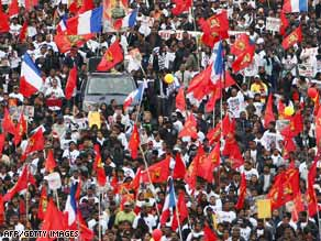 Tamil demonstrators