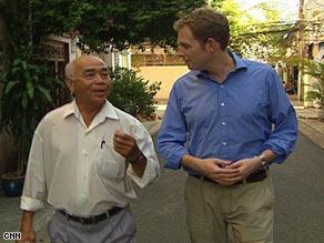 Vietnamese ex-television cameraman Ho Van Tay talks to CNN's Dan Rivers.