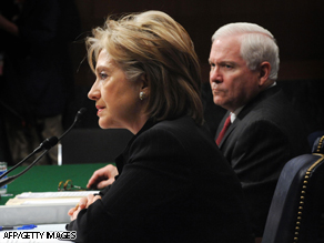 Secretary of State Hillary Clinton and Defense Secretary Robert Gates appear before Senate committee Thursday.