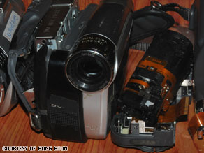 Tools of the trade: Cameras used by Democratic Voice of Burma reporters during the 2007 protests.