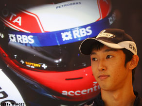 Eyes on the prize: Nakajima is aiming for better results in his second season.