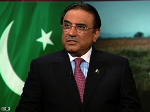 Pakistani President Asif Ali Zardari insists his country's nuclear arsenal is &quot;definitely safe&quot; from militants.