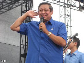 President Yudhoyono's party won the most votes in the election, setting him up for a second term.