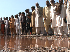 Thousands of displaced Pakistani civilians have flooded refugee camps.