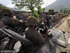 Tens of thousands of Pakistani civilians have been forced to abandon their homes in the past few days.