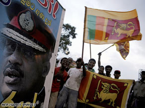 Tamil supporters plead for help from the United States during a protest in front of the White House.