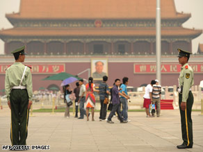 Tiananmen Square -- site of the bloody crackdown on pro-democracy protesters in 1989.