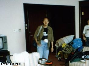 "Donna Liu inside the Beijing Hotel in 1989. ""You could hear the gunfire before you saw anything."""