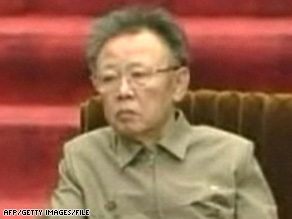 This screen grab from North Korean television on April 9 shows leader Kim Jong Il in Pyongyang.