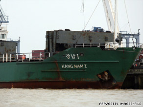 "The Kang Nam is known for having carried ""proliferation materials,"" a senior U.S. official says."