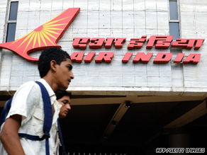 A man walks past the Air India building in Mumbai. Staff staged a strike to protest against unpaid wages.
