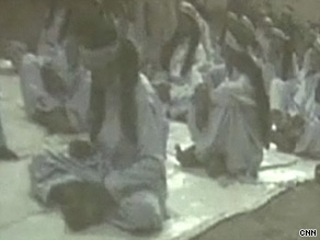 Children are shown at a training camp in this video footage shot by the Taliban.