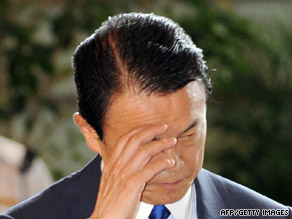 Japanese Prime Minister Taro Aso said the Tokyo election would have no effect on the national vote.