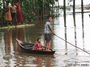 Hundreds of thousands of people have been hit by flooding in eastern India in recent weeks.