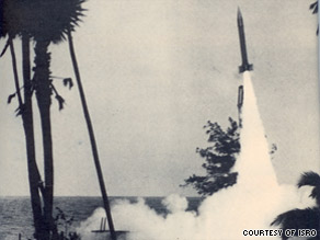 India holds its first rocket launch from a fishing village in southern India on November 21, 1963.