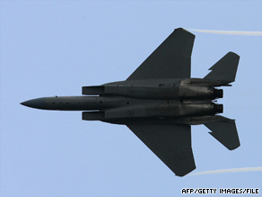 A U.S. Air Force F-15 Eagle similar to this one crashed Saturday in eastern Afghanistan.
