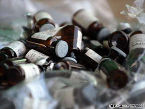 Glass capsules containing ketamine, which has become the drug of choice for Hong Kong's youth.