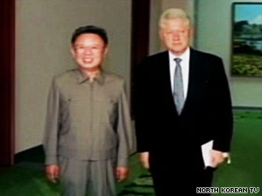 President Clinton met Tuesday with North Korea leader Kim Jong Il.