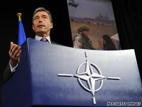 Rasmussen took over as head of the NATO alliance on August 1.