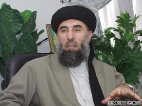 Afghan warlord and former prime minister Gulbuddin Hekmatyar is wanted by the Pentagon.