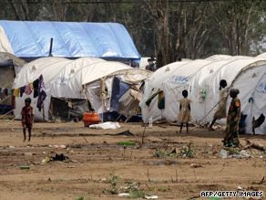 In this file photo Tamil civilians are seen at Menik Farm refugee camp on the outskirts of Vavuniya, Sri Lanka.