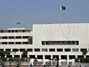 Pakistan's parliament building was one target of a planned attack, an official says.