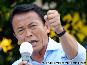 Japanese Prime Minister Taro Aso has approval ratings in the teens.