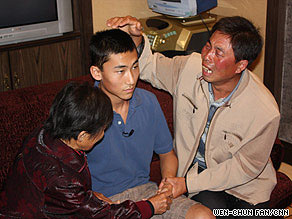 Christian Norris is reunited with his uncle and grandmother in Beijing.